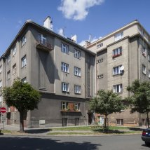 C3–2244 Apartment building of Stavopodnik Manufacturing and Building Cooperative in Pilsen